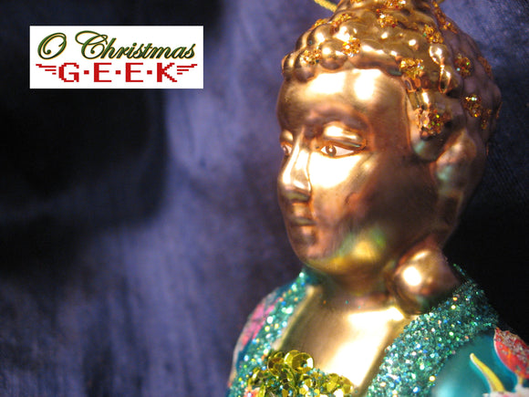 Buddha Ornament With Handpainted Details and Sequins
