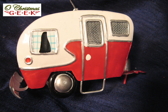 Tin Travel Trailer Ornament