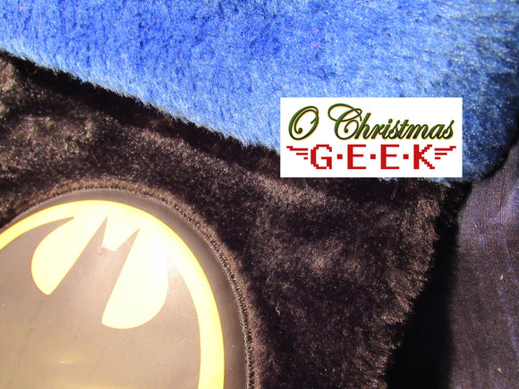 Batman Logo Fuzzy Stocking