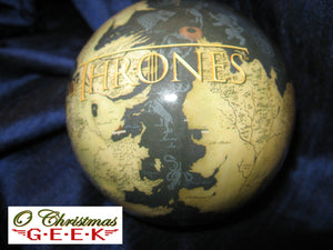 Game of Thrones Decoupage Globe Ornament