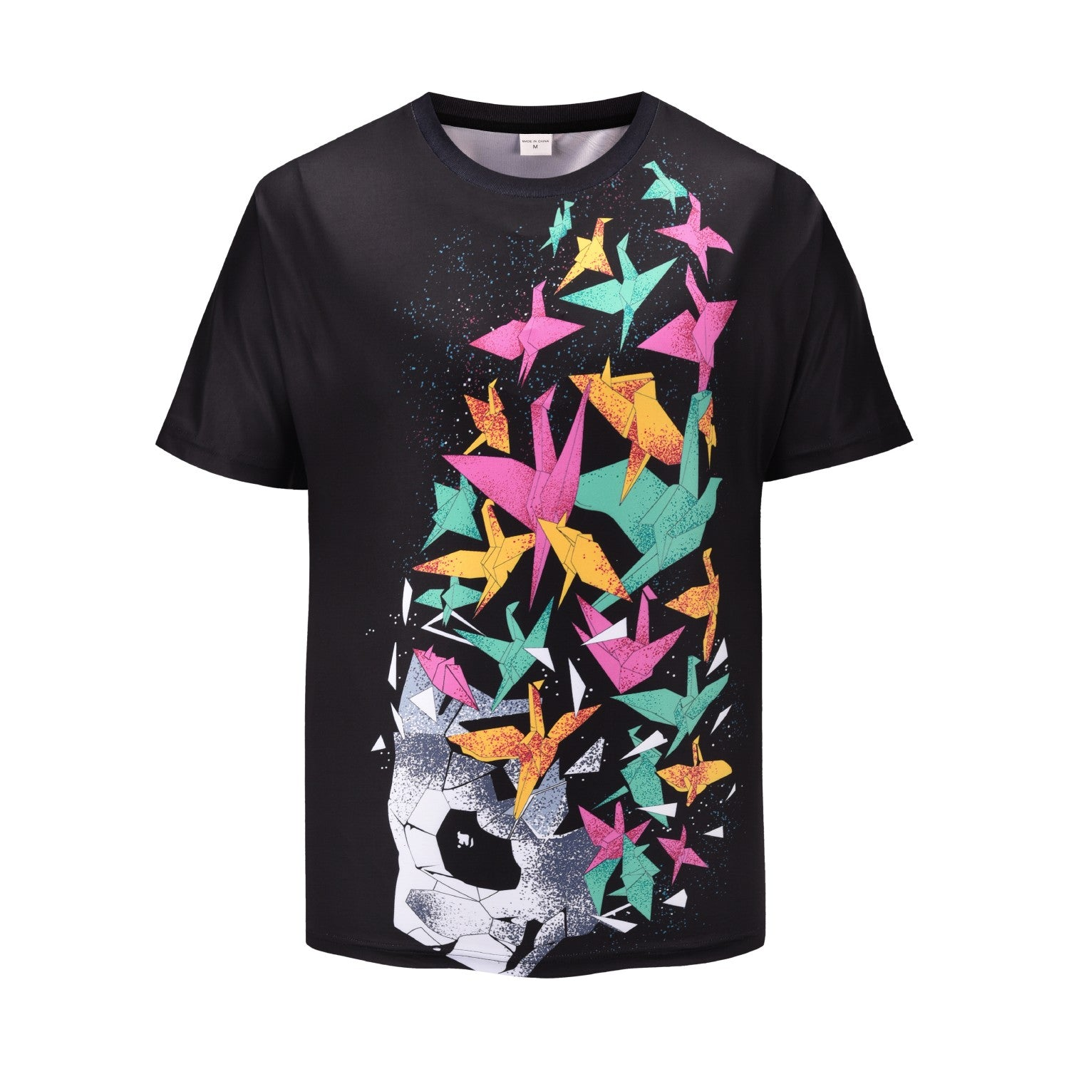 Colorful crane 3D printed T-shirt
