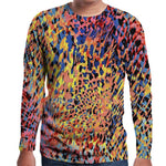 Stylish Muscle Tee Colorful Leopard Mens T-Shirts Long Sleeve Autumn T Shirts Fashion Slim Fit Hiphop Tops Camisas Hombre