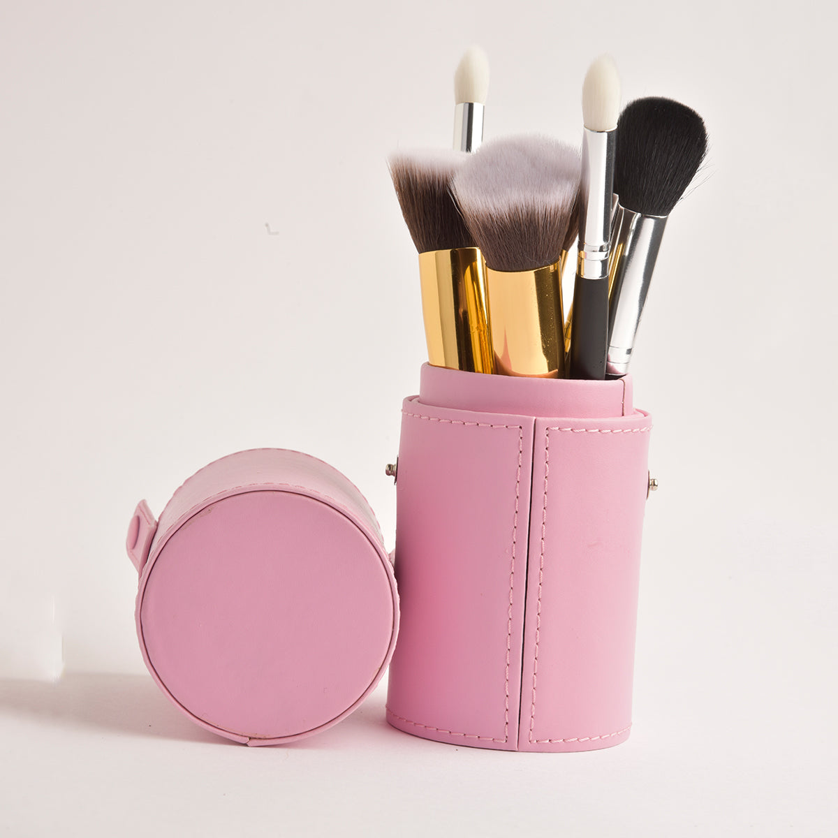 Leather Cosmetics Storage Case - Pink tubby case