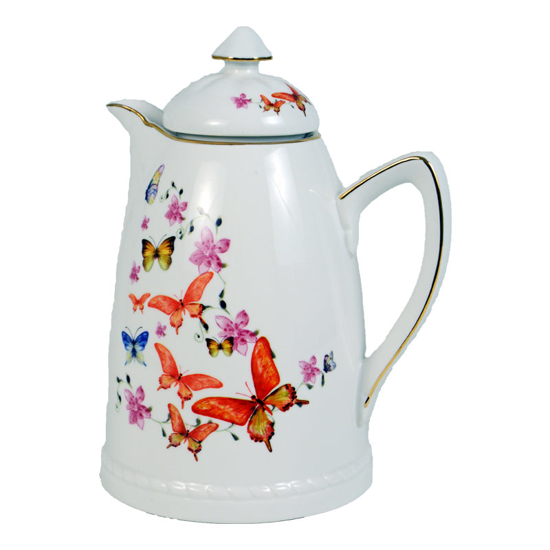 Porcelain Thermos  Butterfly