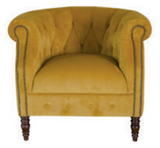 Plush Tumeric Sadie Chair