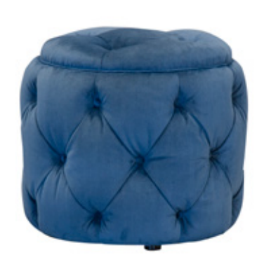 Trinity Plush Teal Footstool