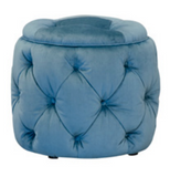 Trinity Plush Peacock Footstool