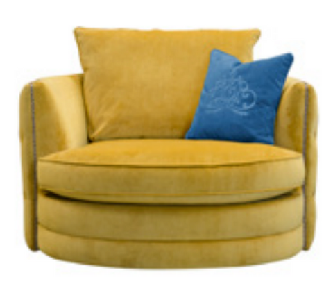 Roxy Chair in Plush Tumeric