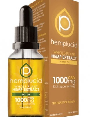 Hemplucid Whole-Plant Tincture MCT Oil 1000mg