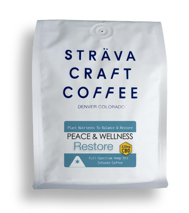 Sträva CBD Infused Coffee - Restore - 120mg per 12 oz. bag