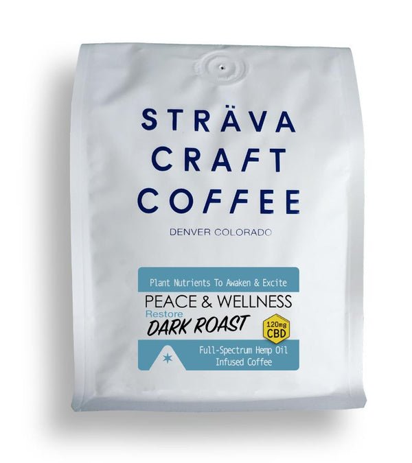 Sträva CBD Infused Coffee - Restore (Dark Roast) - 120mg per 12 oz. bag