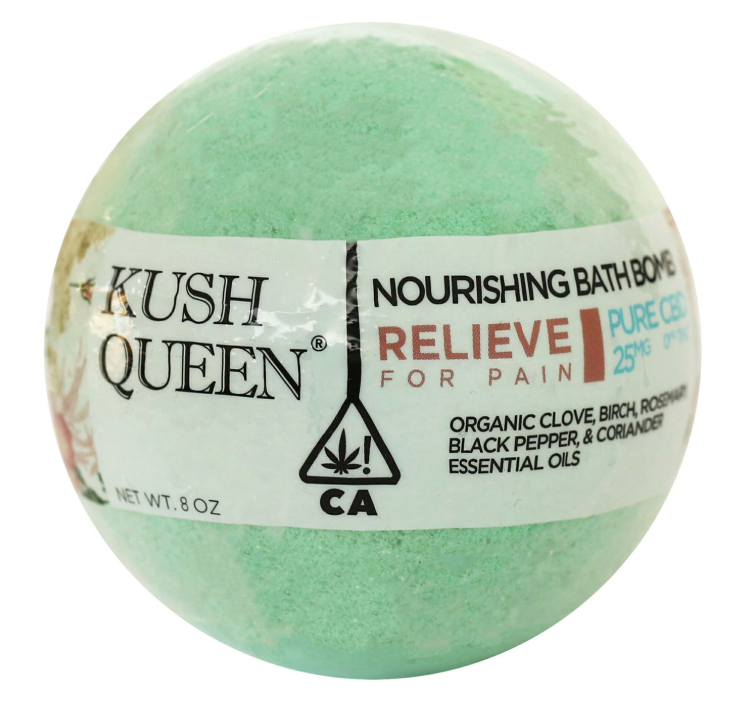 Kush Queen CBD Bath Bomb - Relieve