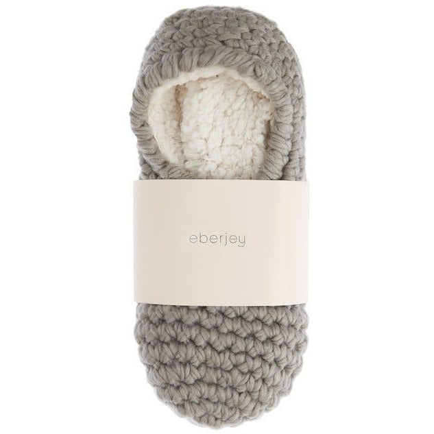 Ribbed Slipper Sock in Grey
