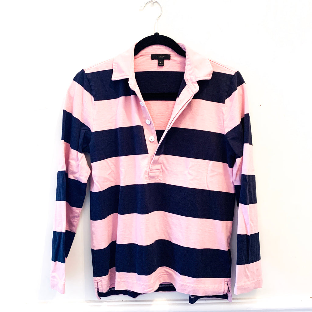 Rugby Crew - Pink / Navy - J. Crew - Small