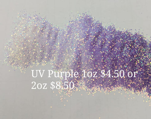 UV Purple Glitter