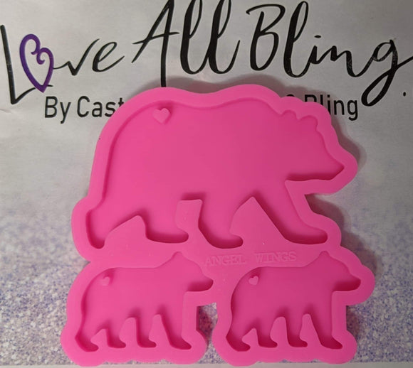 Polar Bear Family Silicon Mold