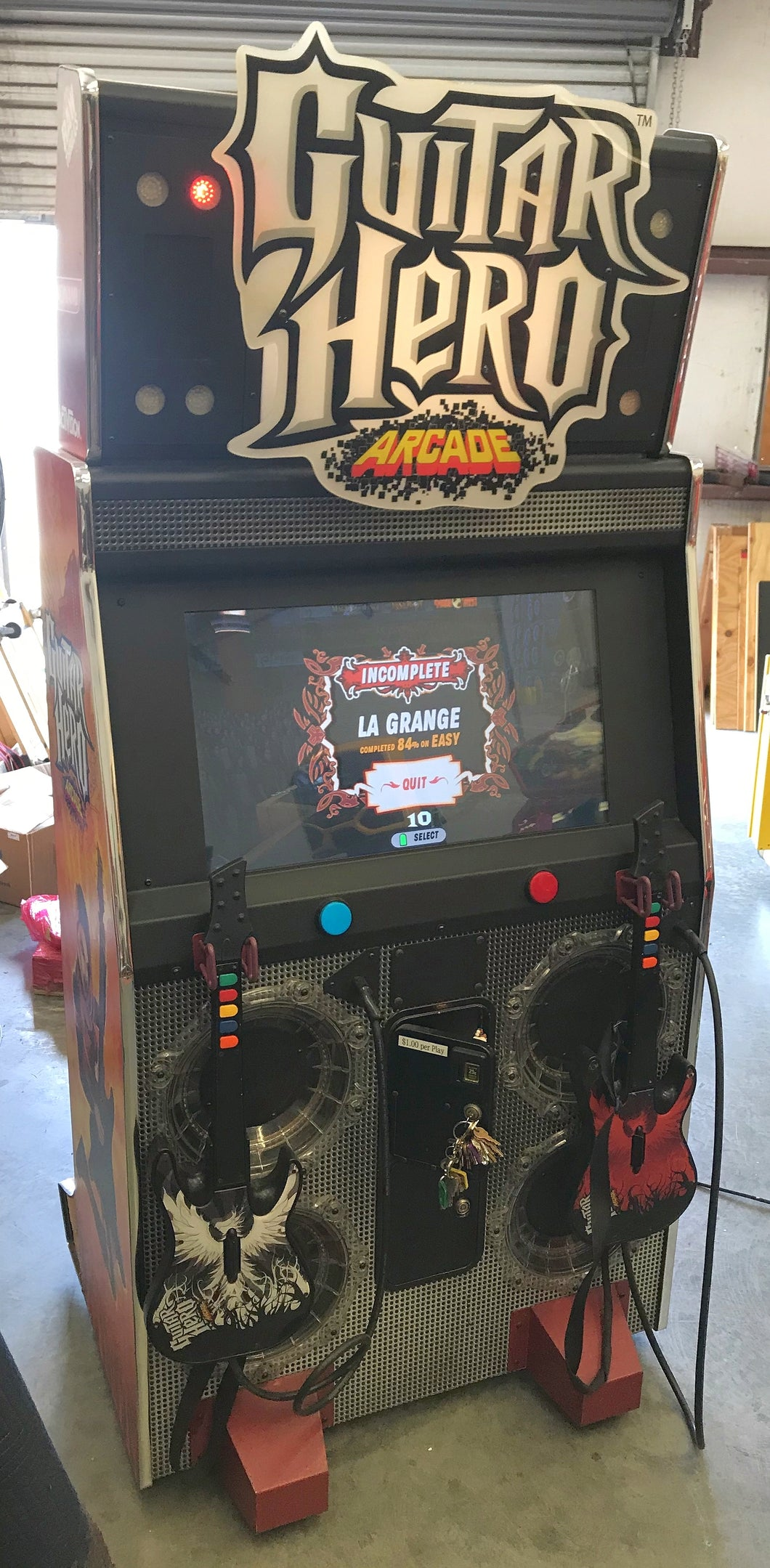 Guitar Hero Arcade Game Raw Thrills