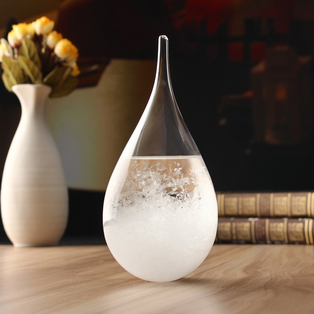 Droplet Storm Crystal Glass - Forecast Predictor