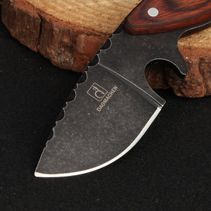 TACTICAL HUNTING KNIFE WITH STONE WASH BLADE
