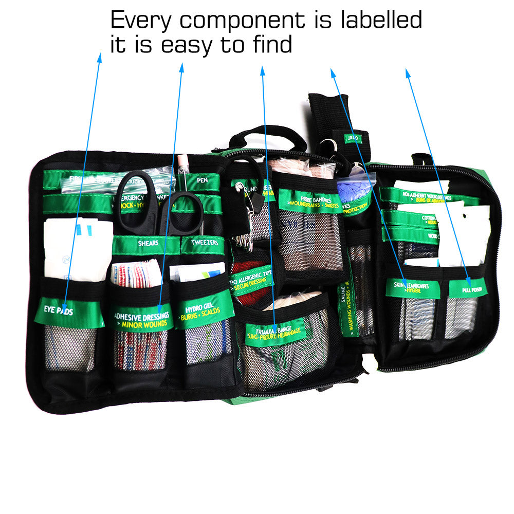 Lifesaving 165-Piece Emergency First Aid Kit Bag