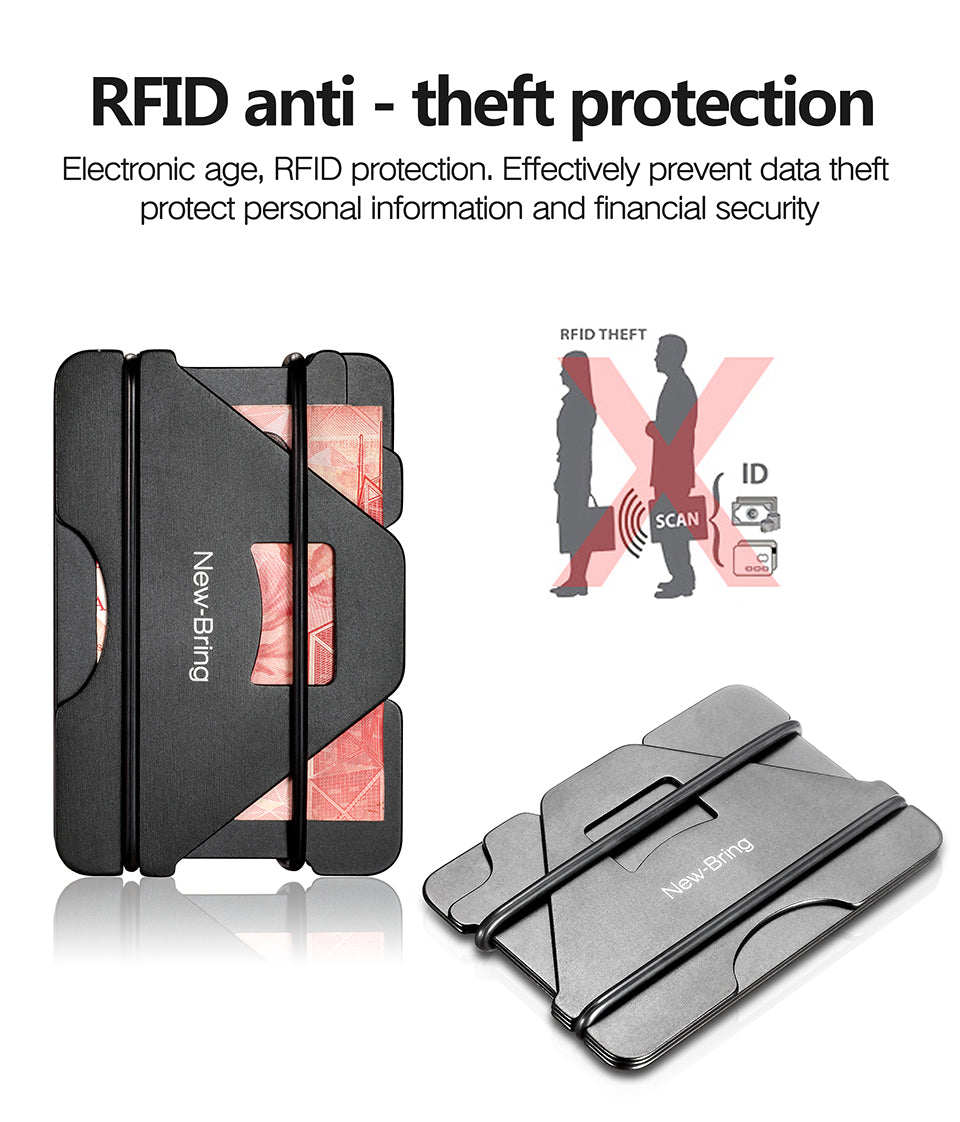 Multi-Function RFID Anti-Thief Metal Minimalist WALLET