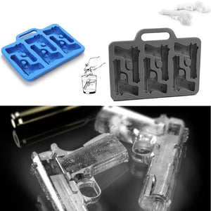 Gun and Bullet Shaped Ice Cube Tray