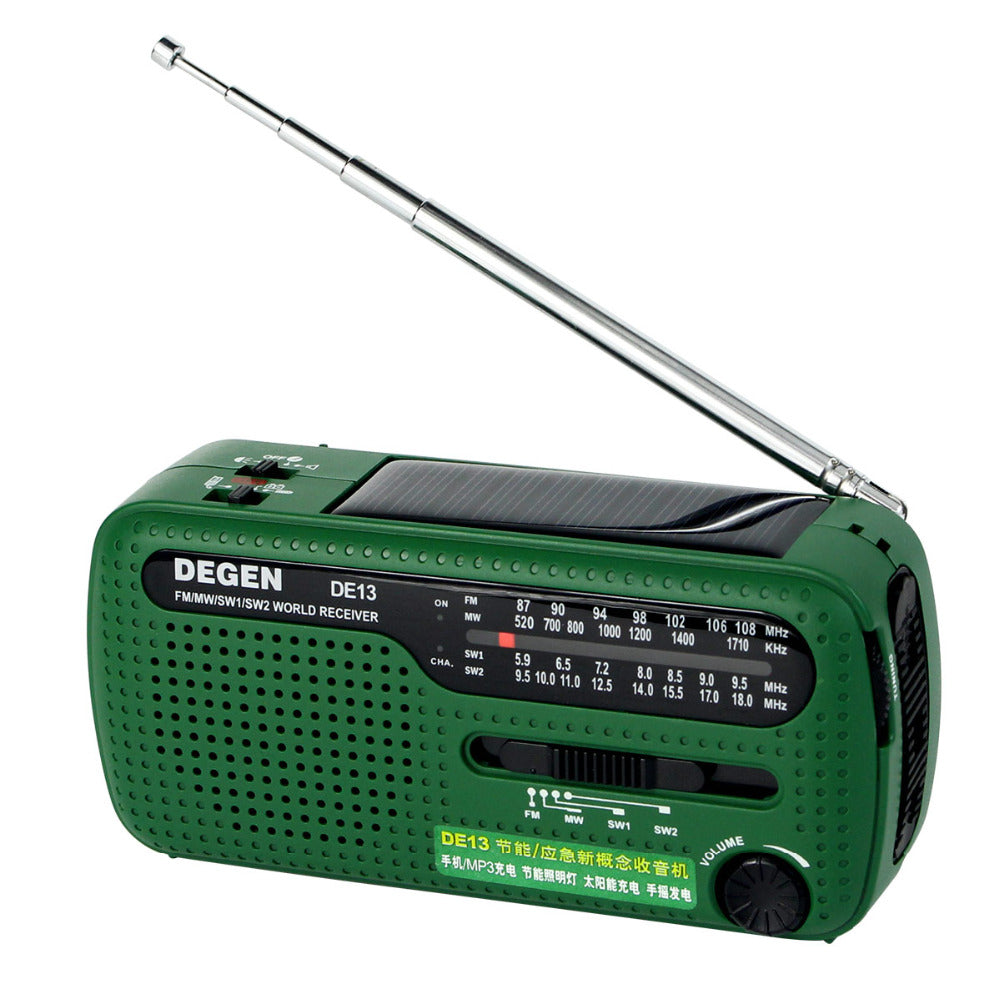 Dynamo Crank Solar Power Emergency Radio