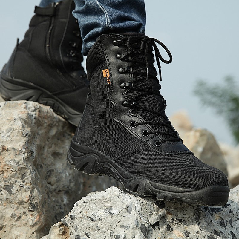 Men Military Tactical Ankle Boots 2017 Winter Camouflage Mens Combat Boots Male footwear Army safety Work Shoes