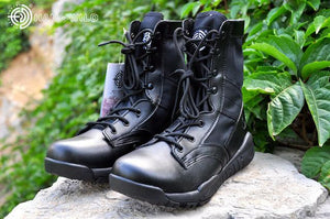 2018 Mens Tactical Army Leather Ankle Boots.