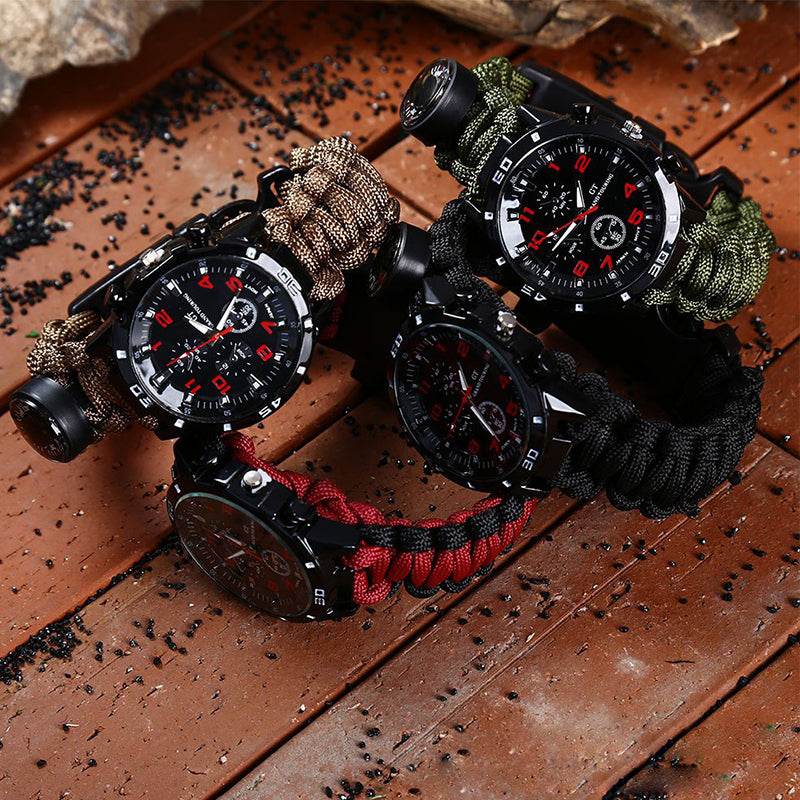 EDC Tactical Survival Paracord Watch
