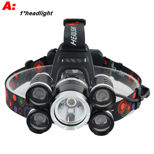 CREE XML 3*T6 LED 40000 Lumen Rechargeable Headlamp + FREE Carry Box