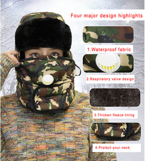 Hunting Bionic Thermal Camouflage Hat with respiration valve