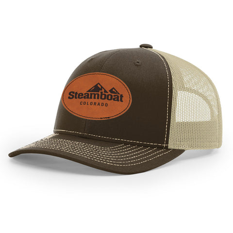 Steamboat Retro Oval Patch Trucker
