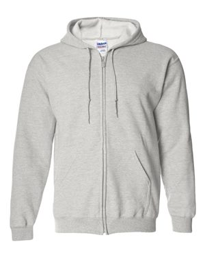 Gildan - Heavy Blend™ Full-Zip Hooded Sweatshirt (LOT of 7) - 18600 - Sport Grey