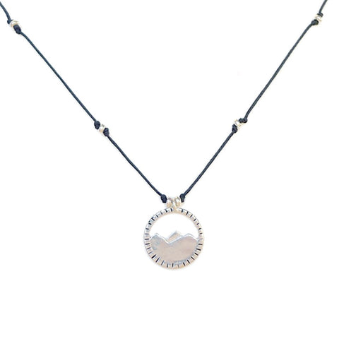 "Three Sisters Necklace- 16"" Black Cord"