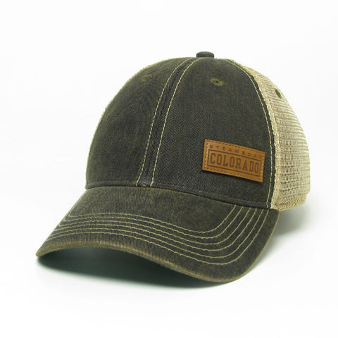SBT Leather Outline Patch Cap