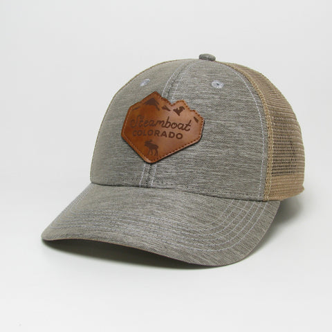 SBT Leather Peak Patch Trucker