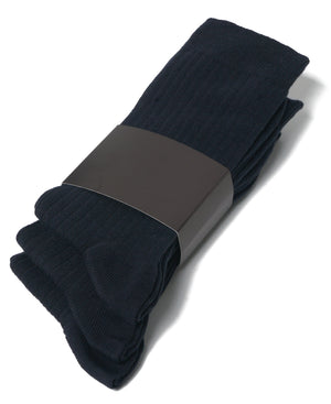 Mens navy cotton dress socks