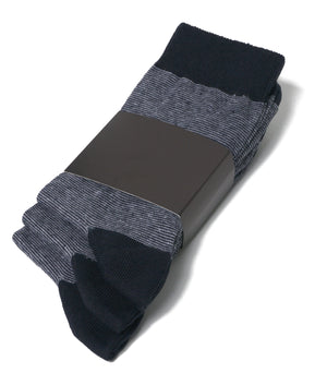 LUXURY FINE KNITTED MENS HEEL & TOE SOCKS, COLOUR: NAVY/GRAY, SIZE 6-10 UK, 6/12/24 PAIRS