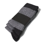 Mens Dark Grey heel & toe comfortable cotton everyday dress socks