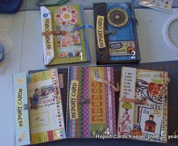 Report Card School Scrapbook Album Keeper