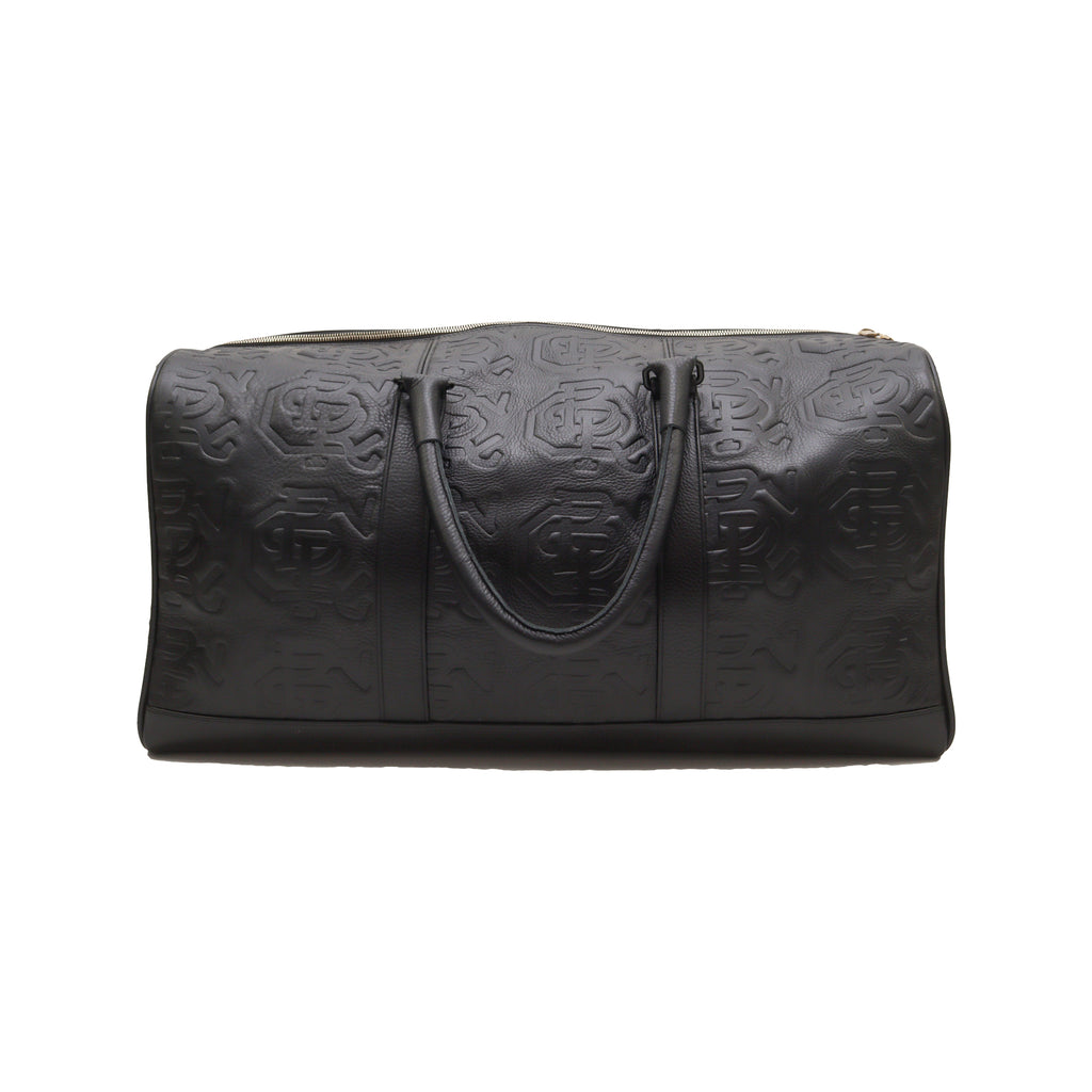 CBR Leather Duffle Bag (Black)