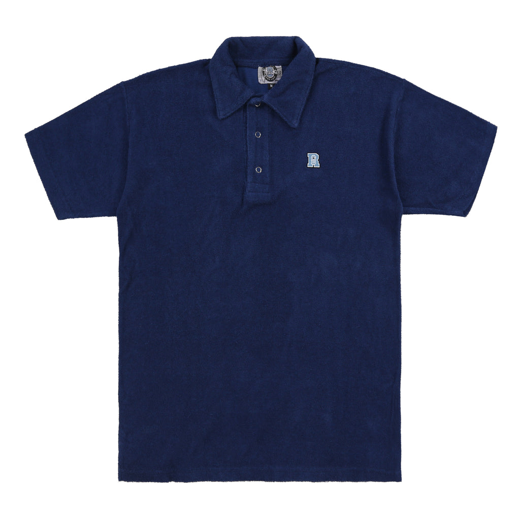 Brent's Terry Cloth Snap Polo (Navy / Ice)