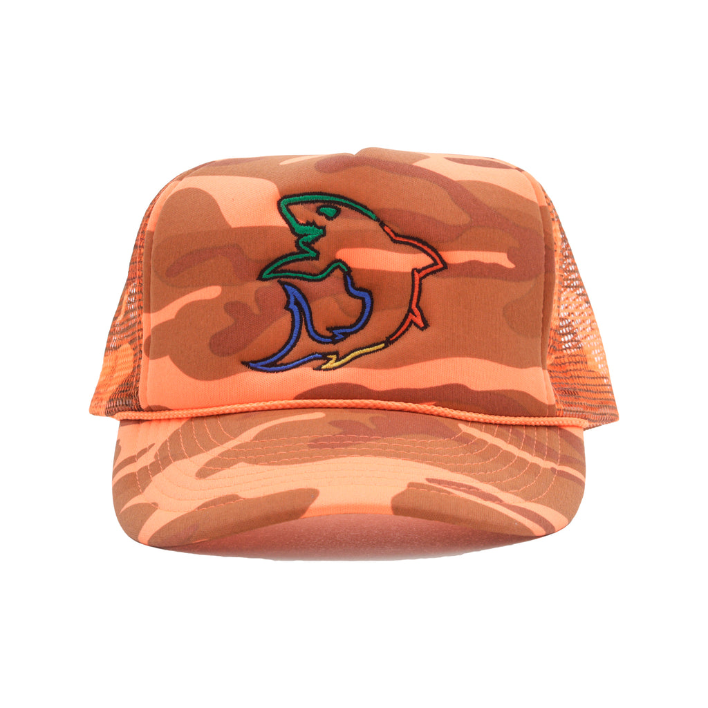 Deep In The Game Trucker Hat (Orange)