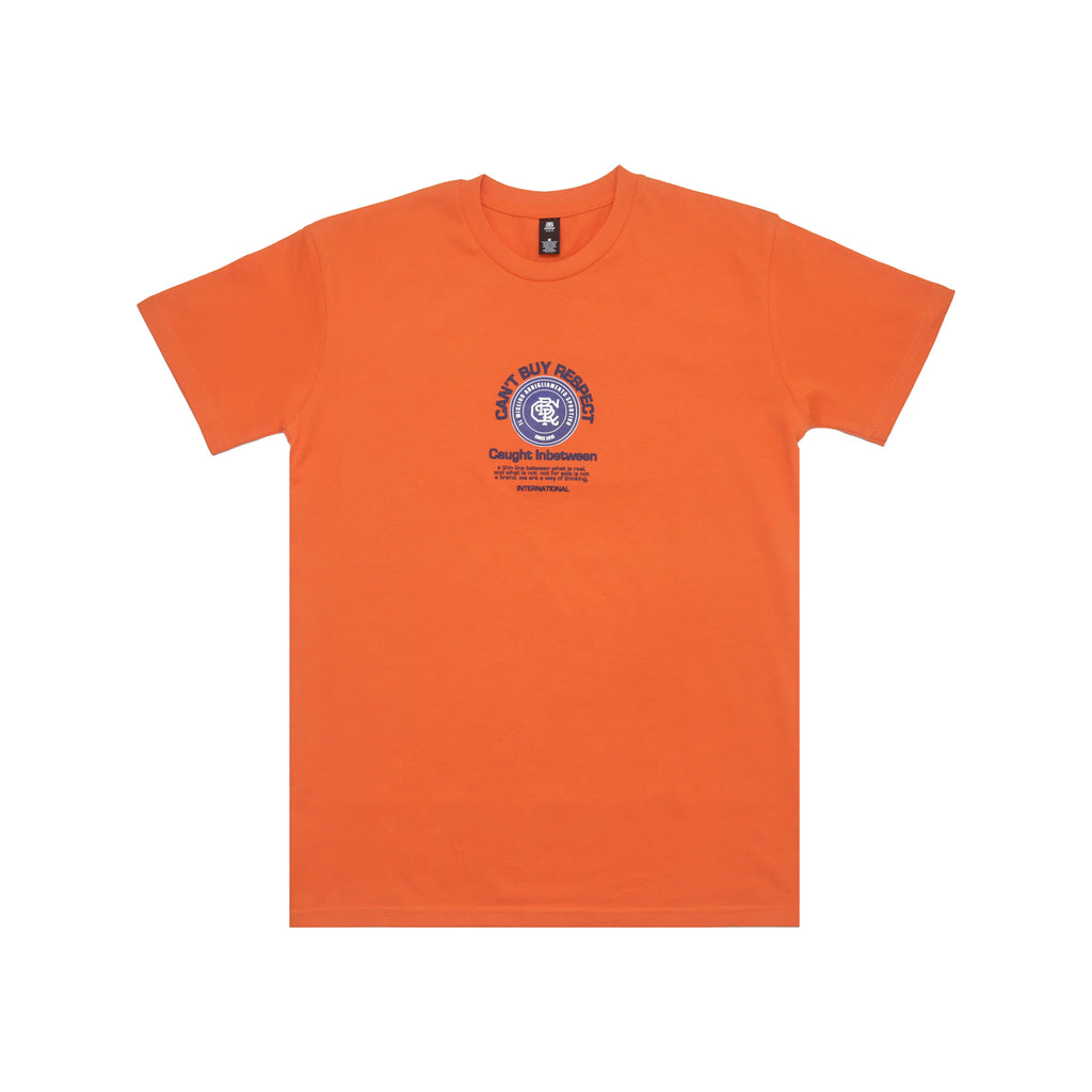 Thin Line Tee (Orange/Navy)