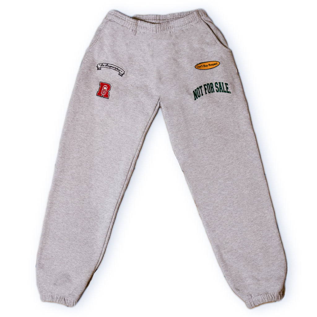 """Be Respectful"" Sweatpants (GREY)"
