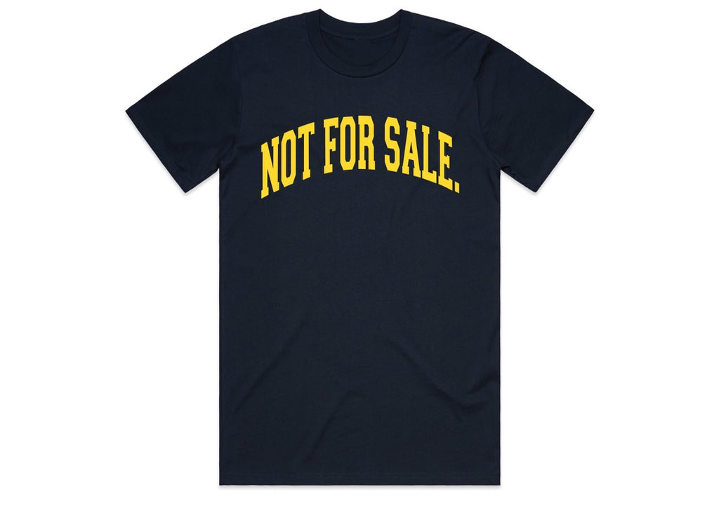 Not For Sale Premium Tee (Navy/Gold)