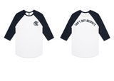 CBR Raglan Baseball Tee (White/Black)