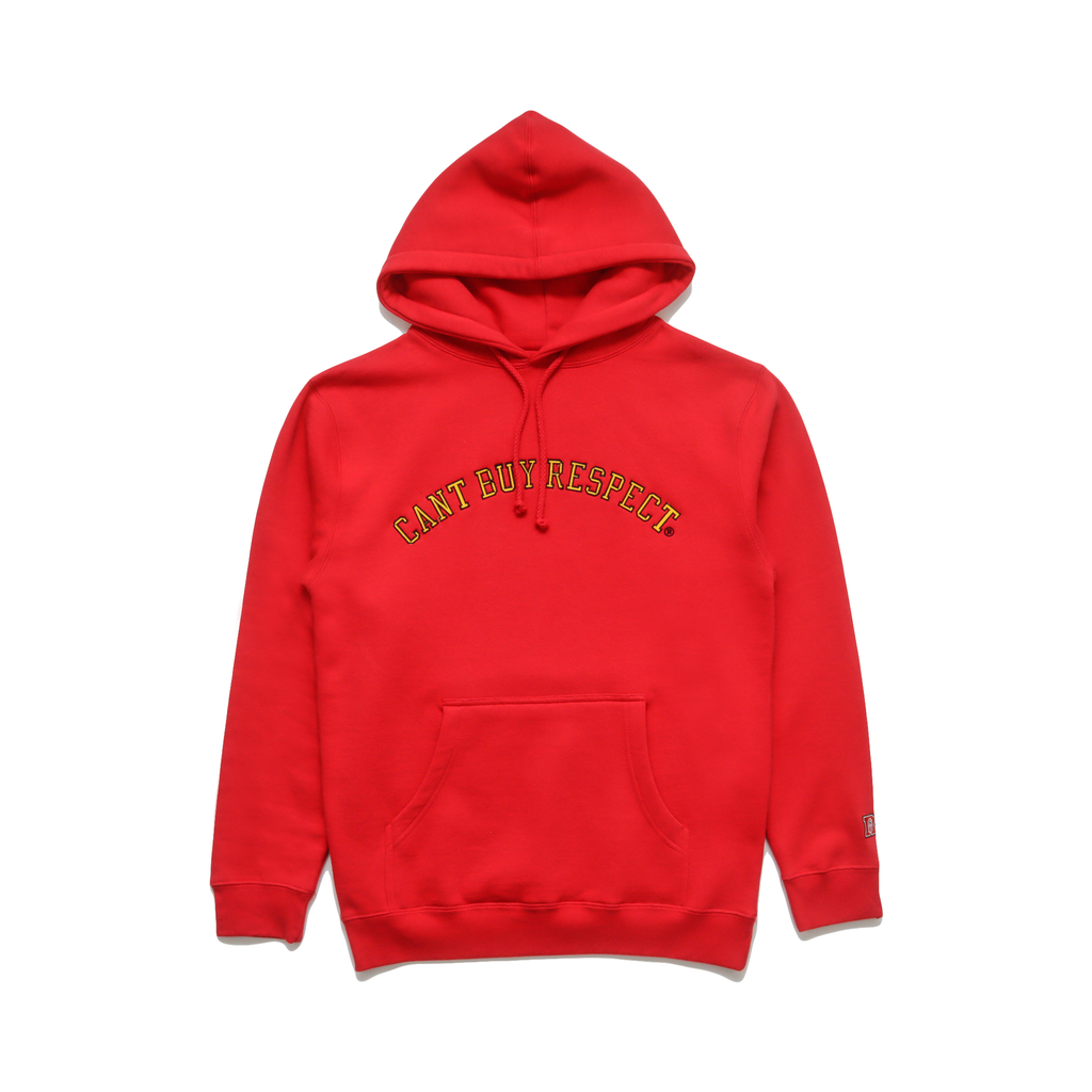 Can't Buy Respect Hoodie (Red/Yellow)