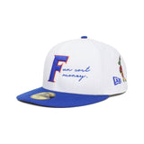 Fun Cost Money NEW ERA 59/50 Fitted Cap (White/Royal)